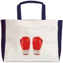 Red Boxing Gloves Beach Tote Bag