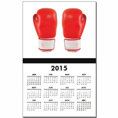 Red Boxing Gloves Calendar Print