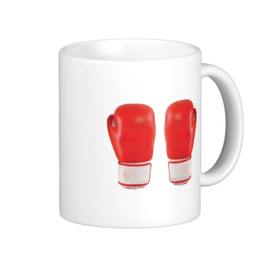 Red Boxing Gloves Classic White Mug