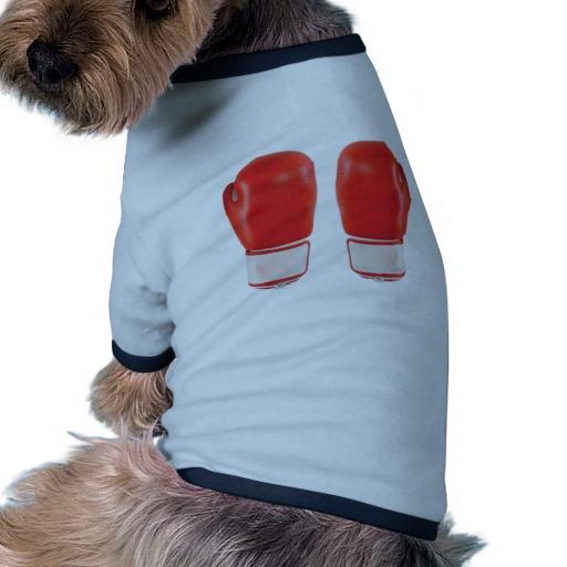 Red Boxing Gloves Doggie Ringer T-Shirt