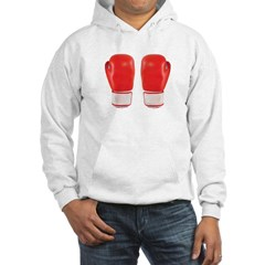 Red Boxing Gloves Hooded Sweatshirt