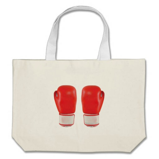 Red Boxing Gloves Jumbo Tote
