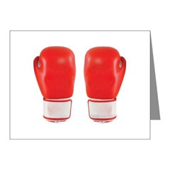 Red Boxing Gloves Note Cards (Pk of 10)