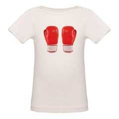 Red Boxing Gloves Organic Baby Tee