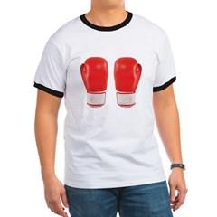 Red Boxing Gloves Ringer T-Shirt