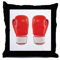 Red Boxing Gloves Throw Pillow