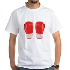 Red Boxing Gloves White T-Shirt