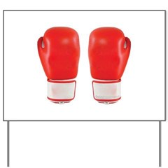 Red Boxing Gloves Yard Sign