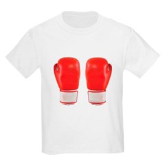 Red Boxing Gloves Youth T-Shirt by Hanes