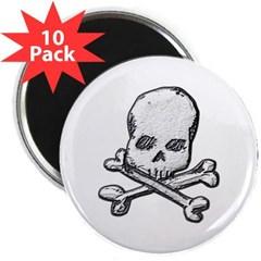 """Skull and Bones 2.25"""" Magnet (10 pack)"""