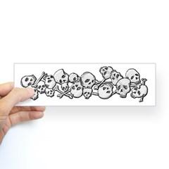 Skull and Bones Bumper Sticker