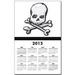 Skull and Bones Calendar Print
