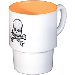 Skull and Bones Coffee Cups