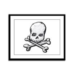 Skull and Bones Framed Panel Print