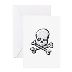 Skull and Bones Greeting Cards (Pk of 20)