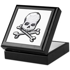Skull and Bones Keepsake Box