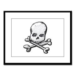 Skull and Bones Large Framed Print