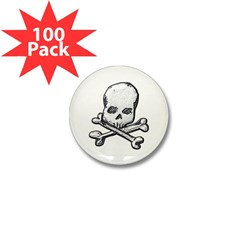 Skull and Bones Mini Button (100 pack)