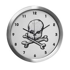 Skull and Bones Modern Wall Clock