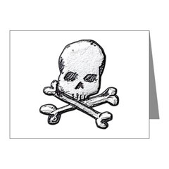 Skull and Bones Note Cards (Pk of 10)