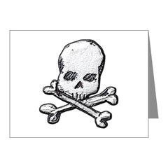 Skull and Bones Note Cards (Pk of 20)