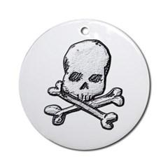 Skull and Bones Ornament (Round)