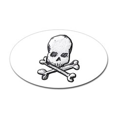 Skull and Bones Oval Decal