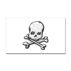 Skull and Bones Rectangle Decal
