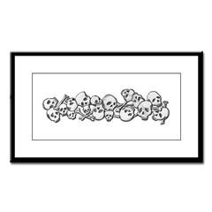 Skull and Bones Small Framed Print