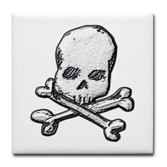 Skull and Bones Tile Coaster