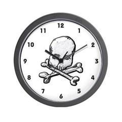 Skull and Bones Wall Clock