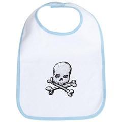 Skull and Cross Bones Baby Bib