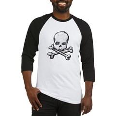 Skull and Cross Bones Baseball Jersey T-Shirt
