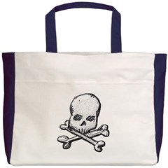 Skull and Cross Bones Beach Tote Bag