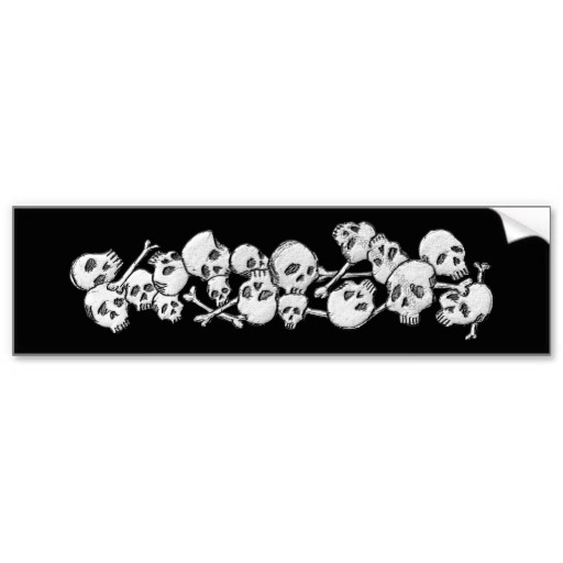 Skull and Cross Bones Bumper Sticker