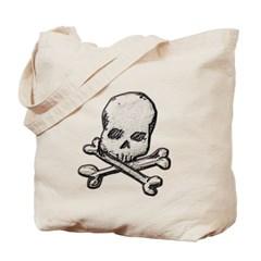Skull and Cross Bones Canvas Tote Bag