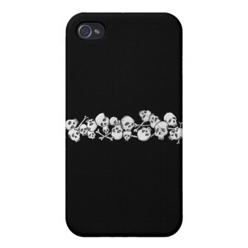Skull and Cross Bones Case Savvy iPhone 4 Matte Finish Case