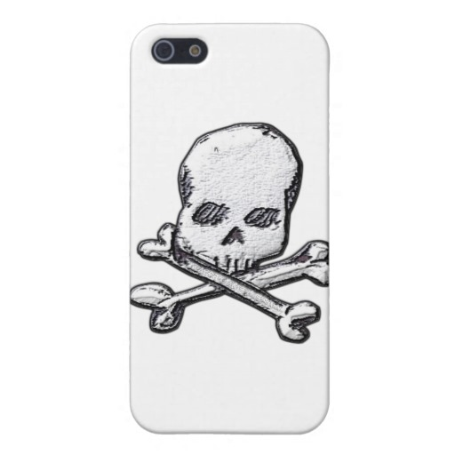 Skull and Cross Bones Case Savvy Matte Finish iPhone 5/5S Case