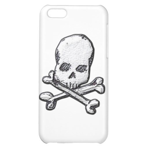 Skull and Cross Bones Case Savvy Matte Finish iPhone 5C Case