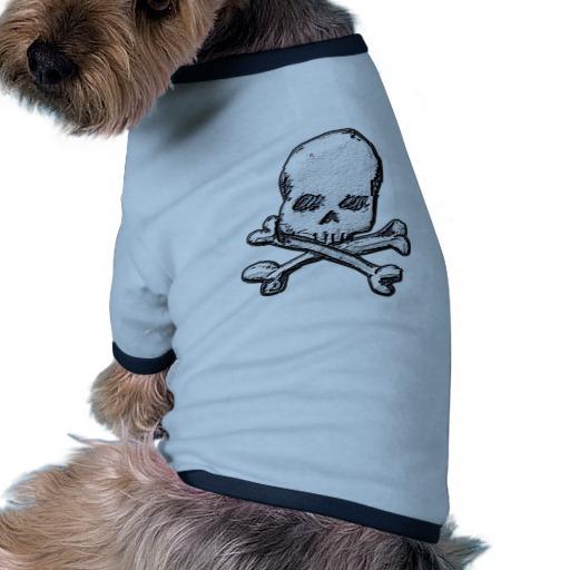 Skull and Cross Bones Doggie Ringer T-Shirt