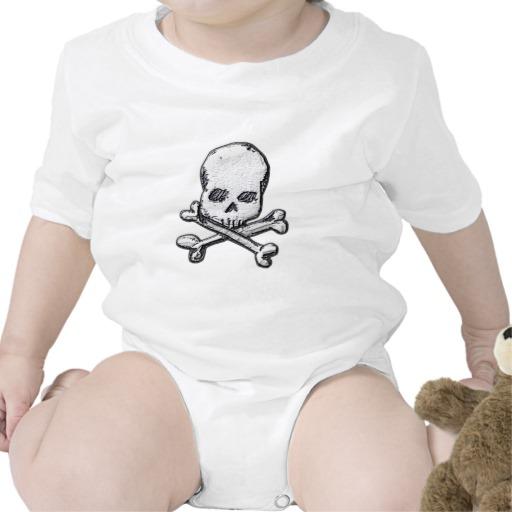 Skull and Cross Bones Infant Creeper