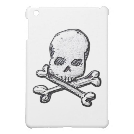 Skull and Cross Bones iPad Mini Matte Finish Case