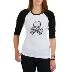 Skull and Cross Bones Junior Raglan T-shirt