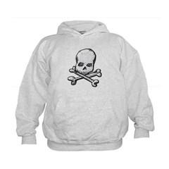Skull and Cross Bones Kids Sweatshirt by Hanes