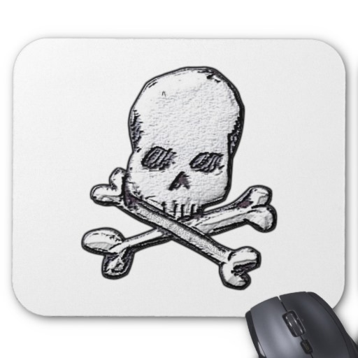 Skull and Cross Bones Mousepad
