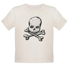 Skull and Cross Bones Organic Toddler T-Shirt
