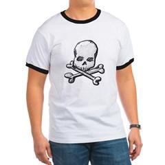Skull and Cross Bones Ringer T-Shirt