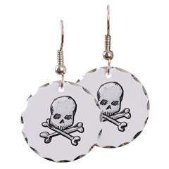 Skull and Cross Bones Round Earrings