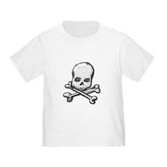 Skull and Cross Bones Toddler T-Shirt