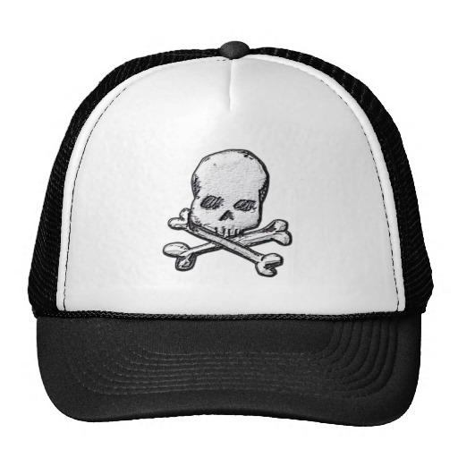 Skull and Cross Bones Trucker Hat